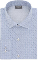 Kenneth Cole Reaction Men's Techni-Cole Slim-Fit Performance Navy Dress Shirt