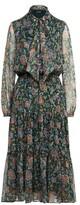 Ralph Lauren Ascot-Print Georgette Dress