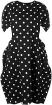Comme des Garcons polka dots oversized dress - women - Silk/Polyester/Wool - XS