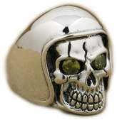 Unknown US 7~14 Football Helmet Hat CZ Eyes Skull 925 Sterling Silver Men Biker Ring 9Q111G (9.5)