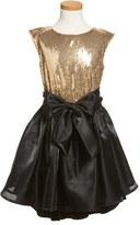 Girl's Pippa & Julie Sequin High/low Hem Dress
