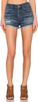A Gold E AGOLDE Jaden High Rise Cut Off Short