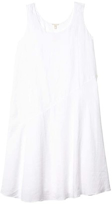 Eileen Fisher Scoop Neck Knee Length Dress (White) Women's Dress