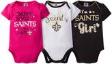 Gerber New Orleans Saints Pink Short-Sleeve Bodysuit Set - Infant