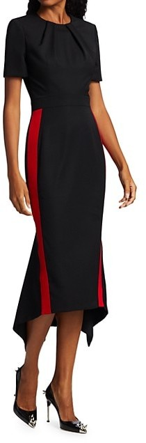 Thumbnail for your product : Alexander McQueen Short-Sleeve Wool Sheath Dress