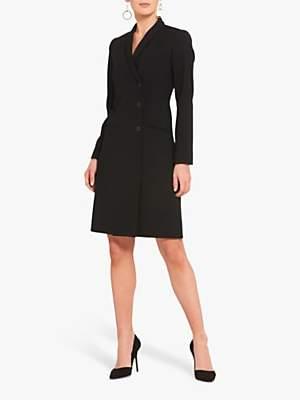 Helen McAlinden Cameron Wool Blend Tuxedo Jacket Dress, Black