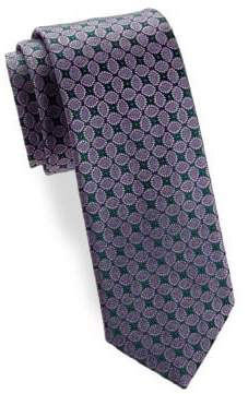 Charvet Leaf Silk Narrow Tie
