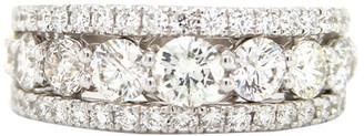 London Fine Jewelry 14K Two-Tone 2.36 Ct. Tw. Diamond Half-Eternity Ring
