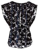 Nili Lotan Graham Floral Velvet Burnout Tunic