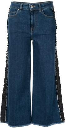 RED Valentino ruffle detail jeans