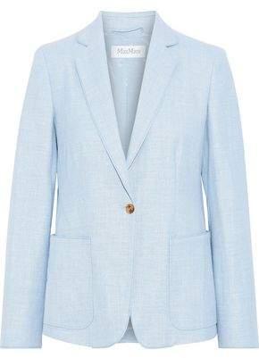 Max Mara Emy Stuoia Silk, Linen And Wool-blend Blazer