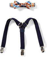 Starting Out Baby Boys Basic Plaid Bow Tie & Suspender Set