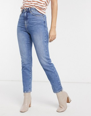 New Look straight leg jeans in mid blue