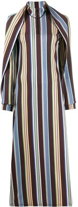 Y/Project Stripe Cape Dress