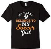 Men's My Heart Belongs to My Soccer Girl T-shirt Soccer Mom Shirt XL