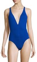 Proenza Schouler Deep V-neck Maillot One Piece Swimsuit