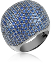 Ileana Creations Azhar Blue Cubic Zirconia Fashion Ring