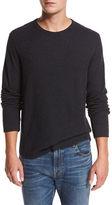 Vince Raw-Edge Crewneck Sweatshirt
