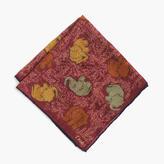 Drake's® Wool-silk Pocket Square In Elephant Print