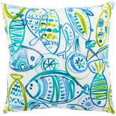 "Jaipur Living Cast Aqua/Green Animal Indoor/Outdoor Throw Pillow 20"""