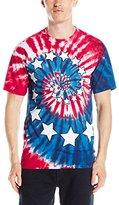 Liquid Blue Men's Stars and Stripes Spiral T-Shirt