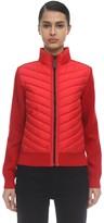 Canada Goose Hybridge Wool Knit & Nylon Down Jacket