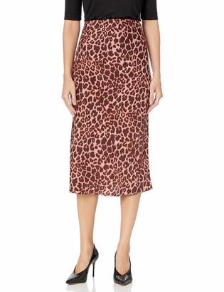 The Fifth Label Women's Leopard Print Straight Midi Skirt