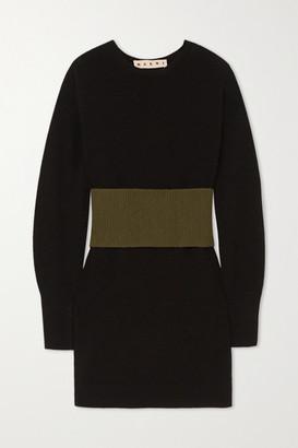 Marni Paneled Wool Sweater - Black