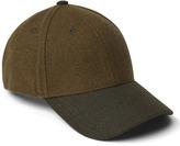 Two-tone wool baseball hat
