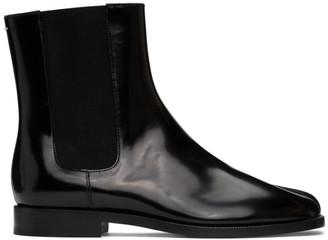 Maison Margiela Black Patent Tabi Chelsea Boots