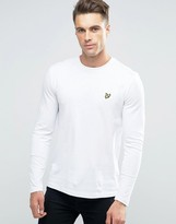 Lyle & Scott Long Sleeve Top Eagle Logo In White