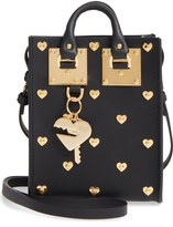 Sophie Hulme 'Nano' Heart Studded Crossbody Bag