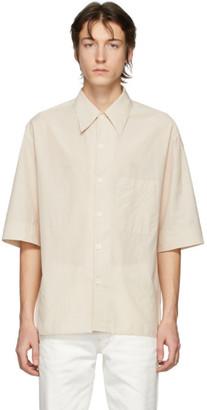 Lemaire Beige Convertible Collar Short Sleeve Shirt