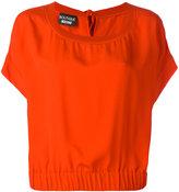 Moschino elasticated hem blouse - women - Silk/Cotton/Rayon - 42