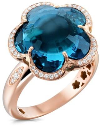 Pasquale Bruni Bon Ton 18K Rose Gold, Topaz & Diamond Ring
