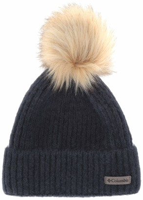Columbia Winter Blur Pom Pom Beanie Fleece Lined Hat