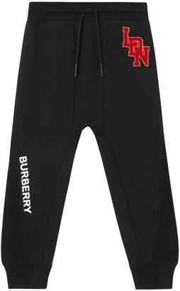 Burberry Cotton Sweatpants W/ Logo Patch