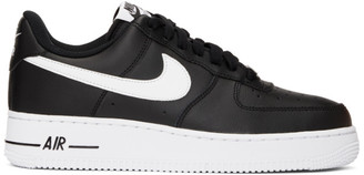 Nike Black and White Air Force 1 07 Sneakers