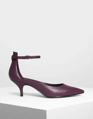 Charles & Keith Pointed Ankle Strap Heels