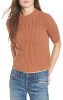 Madewell Women's Mock Neck Cashmere Sweater Tee
