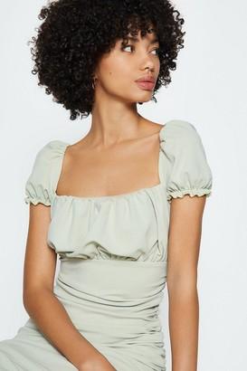 Coast Puff Sleeve Jersey Midi Dress