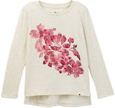 Lucky Brand Step Hem Graphic Tee (Little Girls)