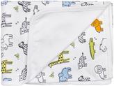Kushies White & Gold On Safari Blanket