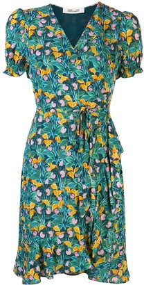 Dvf Diane Von Furstenberg Wrap Front Floral Print Dress