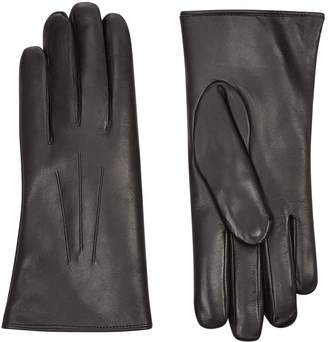 Harrods Rabbit Fur Lined Leather Gloves