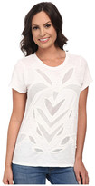 Lucky Brand Cut Out Mesh Top