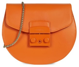 Furla Mini Metropolis Leather Saddle Bag