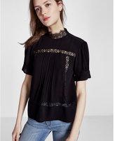 Express high neck short sleeve top