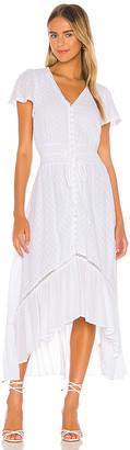 1 STATE Button Front Hi Low Dress