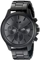 Vestal Unisex HEICM06 Heirloom Chrono Analog Display Quartz Black Watch